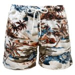 "Photo1: Surf Pants ""Brown Palm tree"" (1)"