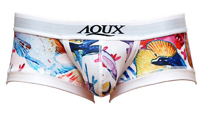 "Photo1: Leg Band Boxer ""Fish Print "" (1)"