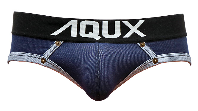 "Photo1: Jock Strap Boxer ""Navy Denim"" (1)"