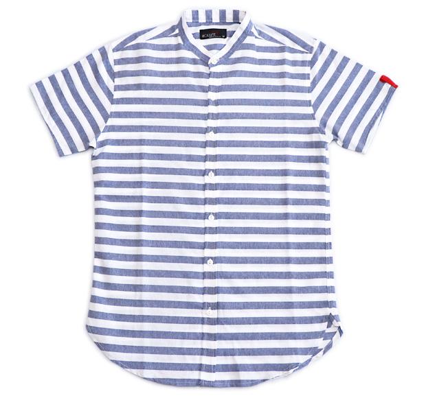 Photo1: Narrow border  Shirts  (1)